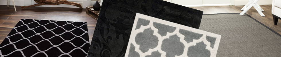 Black & Grey Rugs - Buy Cheap Designer Braided Rugs