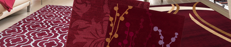 Burgundy Rugs - Flat Woven Rugs and Cotton Braided Rugs
