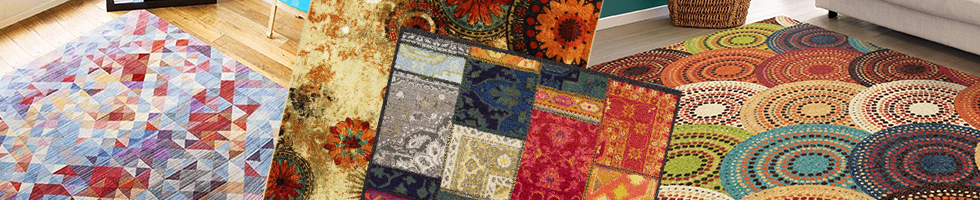 Multi -Color Rugs - Polyester Rugs and Polyester Area Rugs