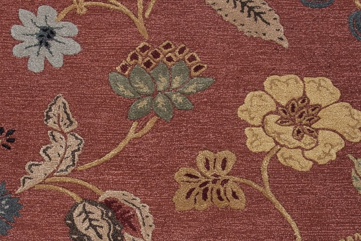 Buy Red & Pink Blue Garden Party BL05 Area Rugs Online In USA
