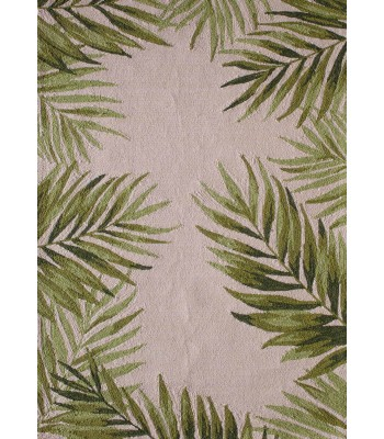 Central Oriental - Sanibel Tonal Palms Ivory-Green