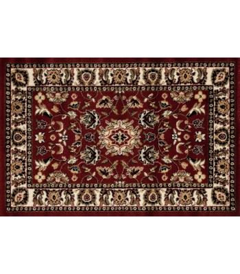 Art Carpet - Hearth Rugs  Burgundy-L.Beige