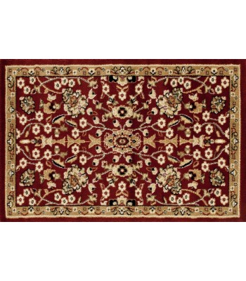 Art Carpet - Hearth Rugs floral pattern Burgundy-D.Beige