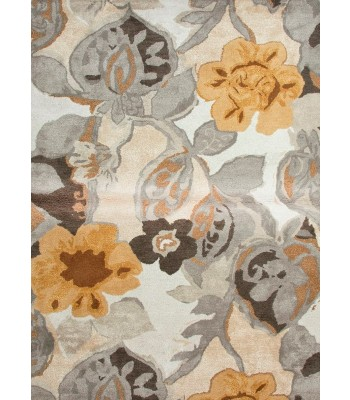 Jaipur Rugs Blue Petal Pusher BL65 Ivory-Yellow