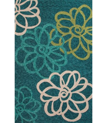 Jaipur Rugs Catalina Blossomed CAT08 Blue-Green