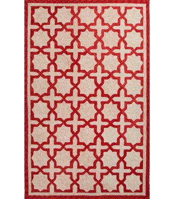 Jaipur Rugs Catalina Moroccan Mosiac CAT06 Red-Taupe