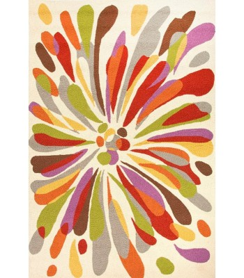 Jaipur Rugs Colours Flowerburst CO15 Red-Multi