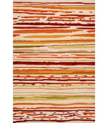 Jaipur Rugs Colours Sketchy Lines CO18 Red-Orange