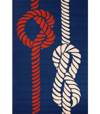 Jaipur Rugs Grant Knotty GD46 Blue-Red