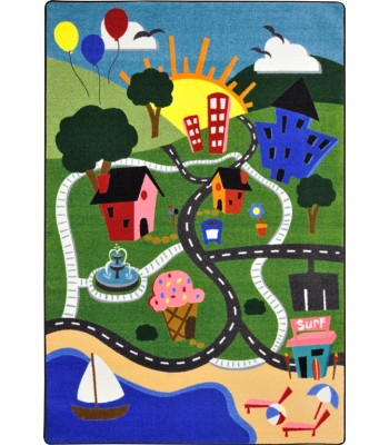 Joy Carpet - Kid Essentials - Early Childhood Happy Town Multi