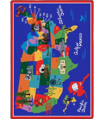 Joy Carpet - Kid Essentials - Geography & Environment America The Beautiful Multi