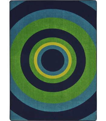 Joy Carpet - Kid Essentials - Teen Area Rugs Fascinate Navy