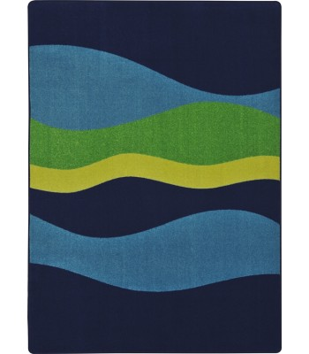 Joy Carpet - Kid Essentials - Teen Area Rugs Flow Navy
