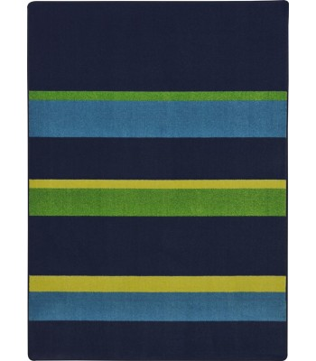 Joy Carpet - Kid Essentials - Teen Area Rugs Straight and Narrow Navy