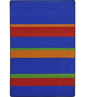 Joy Carpet - Kid Essentials - Teen Area Rugs Straight and Narrow Primary