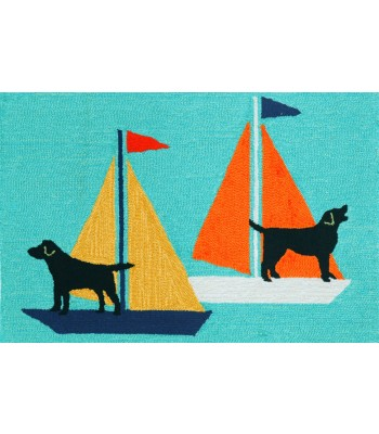 Trans Ocean - Frontporch 1402/03 Sailing Dogs Blue
