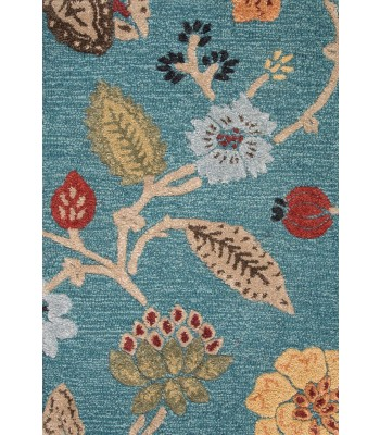 Jaipur Rugs Blue Garden Party BL131 Blue-Red