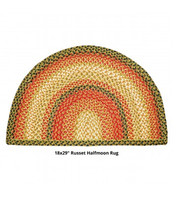 Homespice - Jute Braided Half Moon Russet Gold