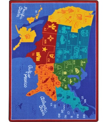Joy Carpet - Kid Essentials - Geography & Environment States of the Nation Multi