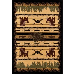Art CarpetCabinAdirondack TrailBlack