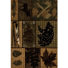 Art CarpetCabinBlack Bear TrailGreen