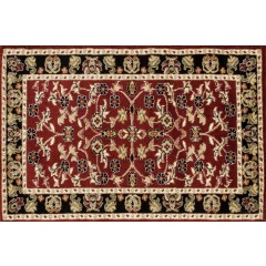 Art CarpetHearth RugsBurgundy-Black