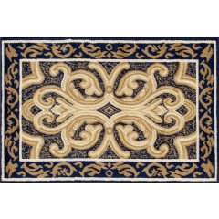 Art CarpetHearth RugsClassicalNavy-D.Beige
