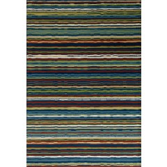 Art CarpetSeaportWavy StripeMulti Color