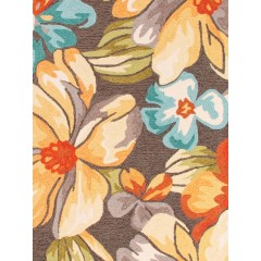 Jaipur RugsFloraAbita FLO03Dark Gray/Yellow