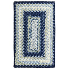 HomespiceCotton BraidedWedgewoodBlue - White