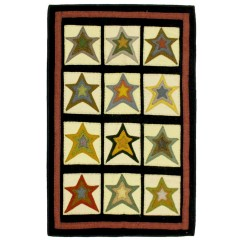 HomespiceHand Appliqued Star PatchBlack - Gold