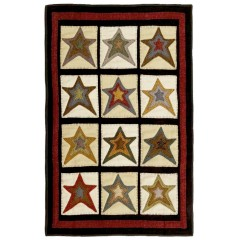 HomespiceHand Appliqued Star PatchCream - Beige