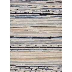 Jaipur RugsColoursSketchy Lines CO08Ivory-Blue