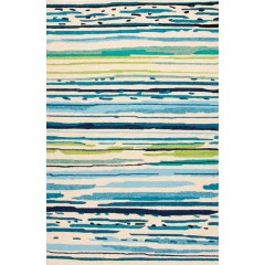 Jaipur RugsColoursSketchy Lines CO19Blue-Green