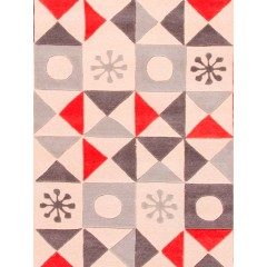 Jaipur RugsPlayful By Petit CollageStarburst PBP01Ivory/Red