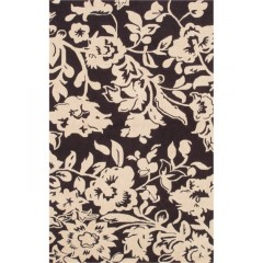 The Rug MarketBatik 25268DBrown-Cream