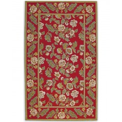 The Rug MarketBelgique 13093DRed-Cream-Sage