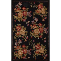 The Rug MarketBouquet Beauty 40110DBlack-Red-Gold