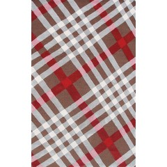 The Rug MarketBrit Plaid 72386DBrown-Ivry-Beig