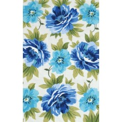 The Rug MarketCaeruleus 25551DWhite-Blue-Grn