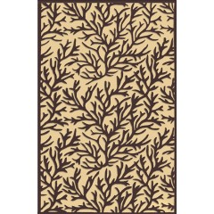 The Rug MarketCoral Reef 32014EBlack-Tan
