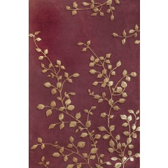 The Rug MarketGolden Leaves 44014ABurgundy-Gold