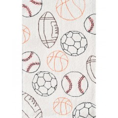 The Rug MarketKids Balls71154BCrm-Blk-Red-Org