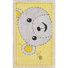 The Rug MarketKids Bee-Z-Bear11852BYellow-Gray