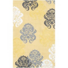 The Rug MarketKids Brocade12362BYllw-White-Grey