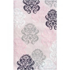 The Rug MarketKids Brocade12363BPink-Blk-White