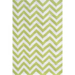 The Rug MarketKids Chevron25607ELime-White