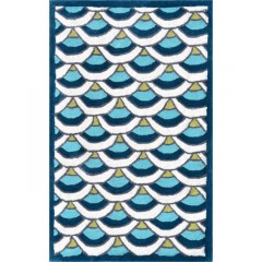 The Rug MarketKids Chi-Lin12391BBlue-White-Teal