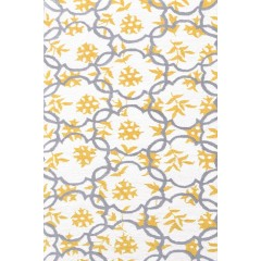The Rug MarketKids Geo71195BWhite-Grey-Gold