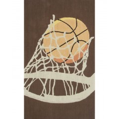 The Rug MarketKids Hoops11788BBrwn-Cream-Orng